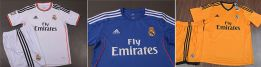 Next season's Real Madrid kits: white, blue and orange