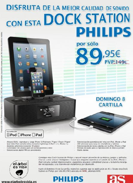 Consigue con AS esta Dock Station Philips