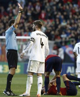 Real Madrid to appeal first yellow shown to Sergio Ramos