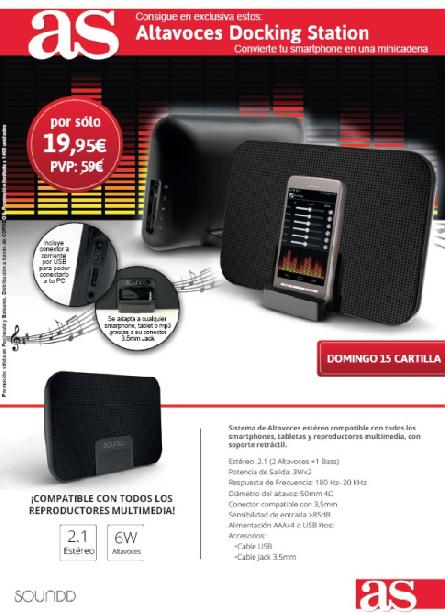 Altavoces Docking Station con AS