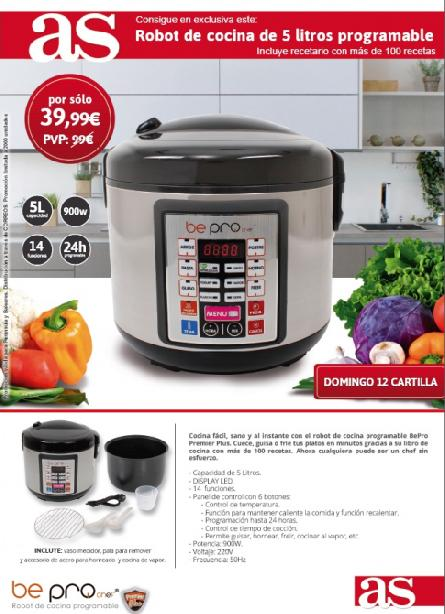 Consigue este robot de cocina multifunci n promociones for Robot de cocina multifuncion
