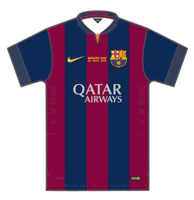 """""""Thanks Xavi"""" on Barça's shirt for Deportivo game"""