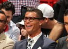Cristiano watches Miami Heat courtside