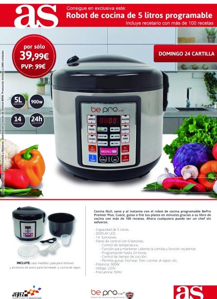 Robot de cocina programable promociones for Robot cocina programable