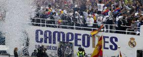 Fiesta de la Undécima Champions League Celebración en el Bernabéu.