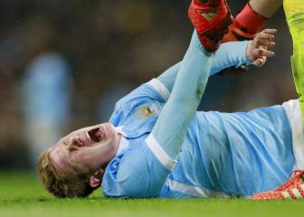 De Bruyne out of league cup final with double injury