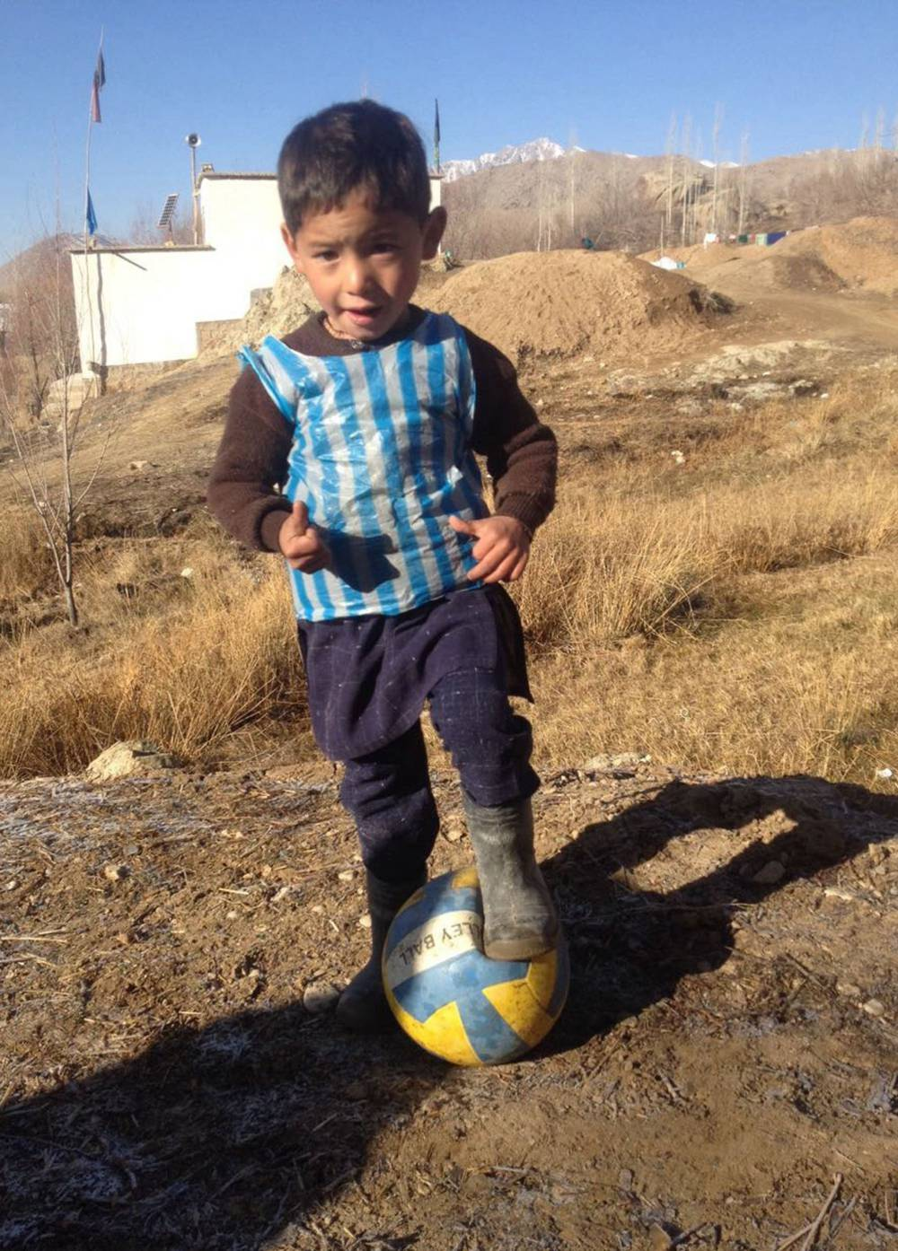 d9756591d Messi hopes to meet Afghan boy in plastic jersey