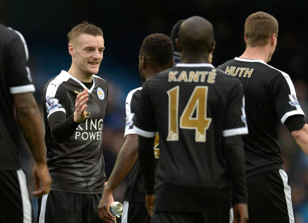 36e2d522f Huth fires fairytale Leicester six points clear of Man City