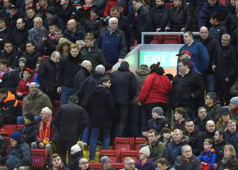 Liverpool fans stage walkout and miss late meltdown