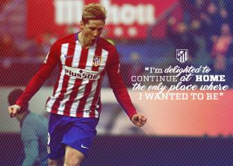 Fernando Torres signs deal to stay at Atlético Madrid