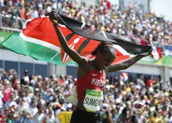 Sumgong claims Kenya's first women's marathon gold