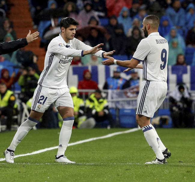 Which of Morata or Benzema will start the derby?