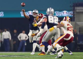 Cowboys romp to 10 in a row as Redskins struggle