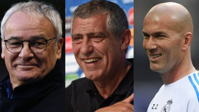 Ranieri, Santos & Zidane nominated for FIFA Coach of the Year