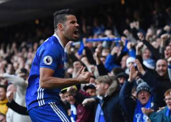 Costa sends Chelsea back on top with ninth straight win
