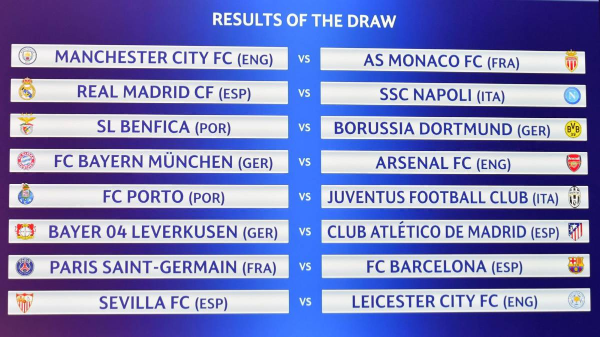 uefa | champions league and europa league draws: as they happened