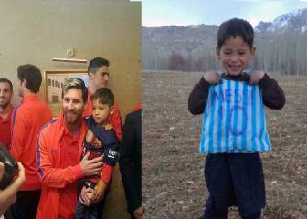 Viral sensation, 'plastic bag shirt boy', meets hero Lionel Messi
