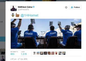 Peace breaks out between Zaha and Harry the Hornet