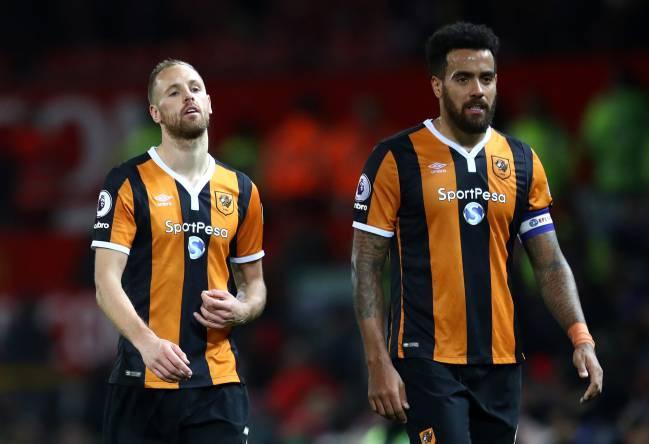David Meyler and Tom Huddlestone of Hull City disappointed.