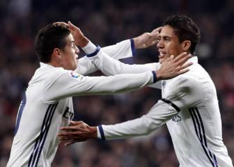 James takes double advantage as Madrid sweep aside Sevilla