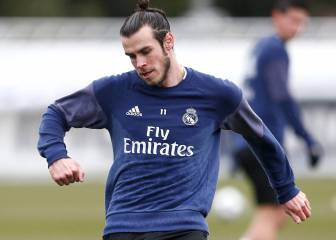 Bale back in full Real training