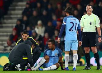 Blow for City: Gabriel Jesus suffers broken metatarsal