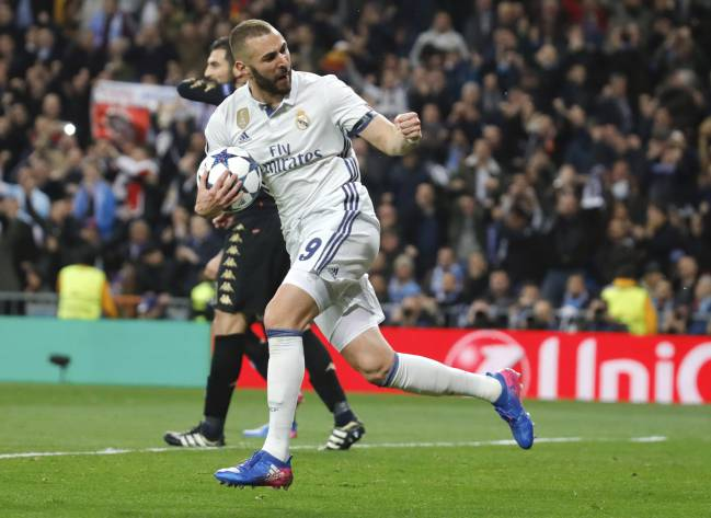 Real Madrid's Karim Benzema looking to maintain the form from the first leg.