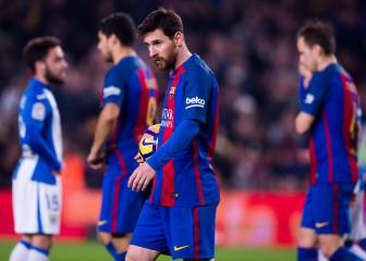 Barcelona's blushes saved by a late Messi penalty