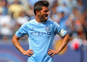 David Villa gets unprecedented red card after video replay