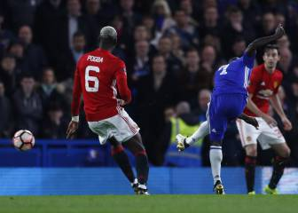Kanté sends Chelsea into FA Cup semis past 10-man United