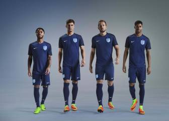 England unveil new dark blue away kit
