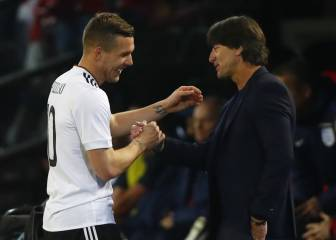 Podolski crowns farewell with stunning winner over England