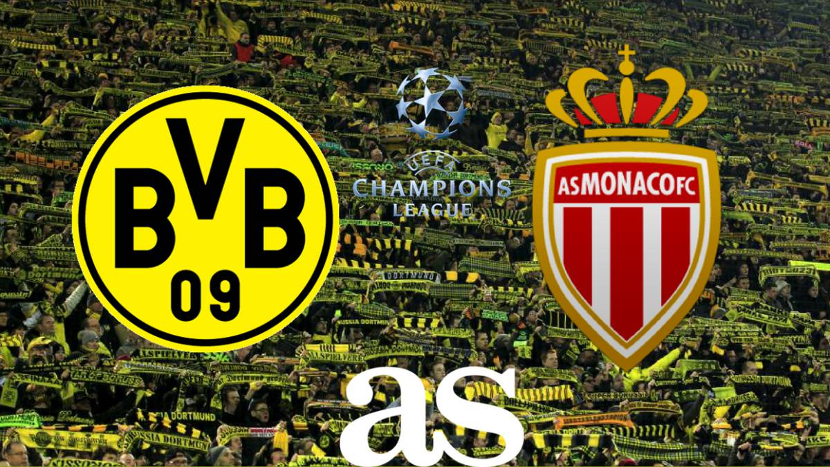 Advantage Monaco as Kylian Mbappe scores twice against Borussia Dortmund