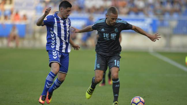 Sergio Canales in action with Real Sociedad