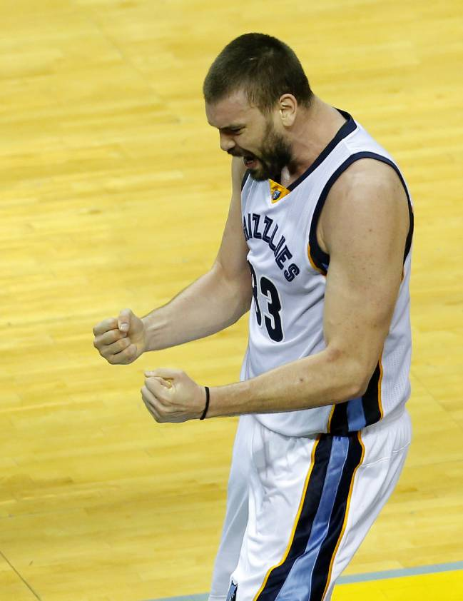 Memphis Grizzlies Marc Gasol versus the Spurs