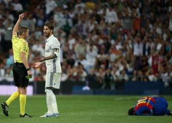 Ramos sent off for two-footed lunge on Messi