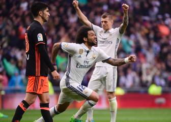Marcelo magic saves Real Madrid against Valencia