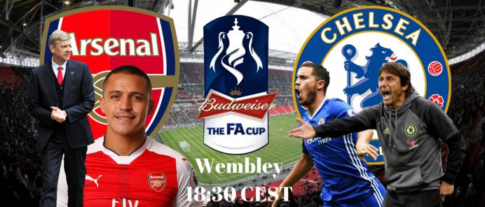 Preview, live build-up and minute-by-minute coverage as Arsenal play Chelsea in the 2017 FA Cup final at Wembley Stadium, London. Kick-off is at 18:30 CEST on Saturday 27 May 2017.