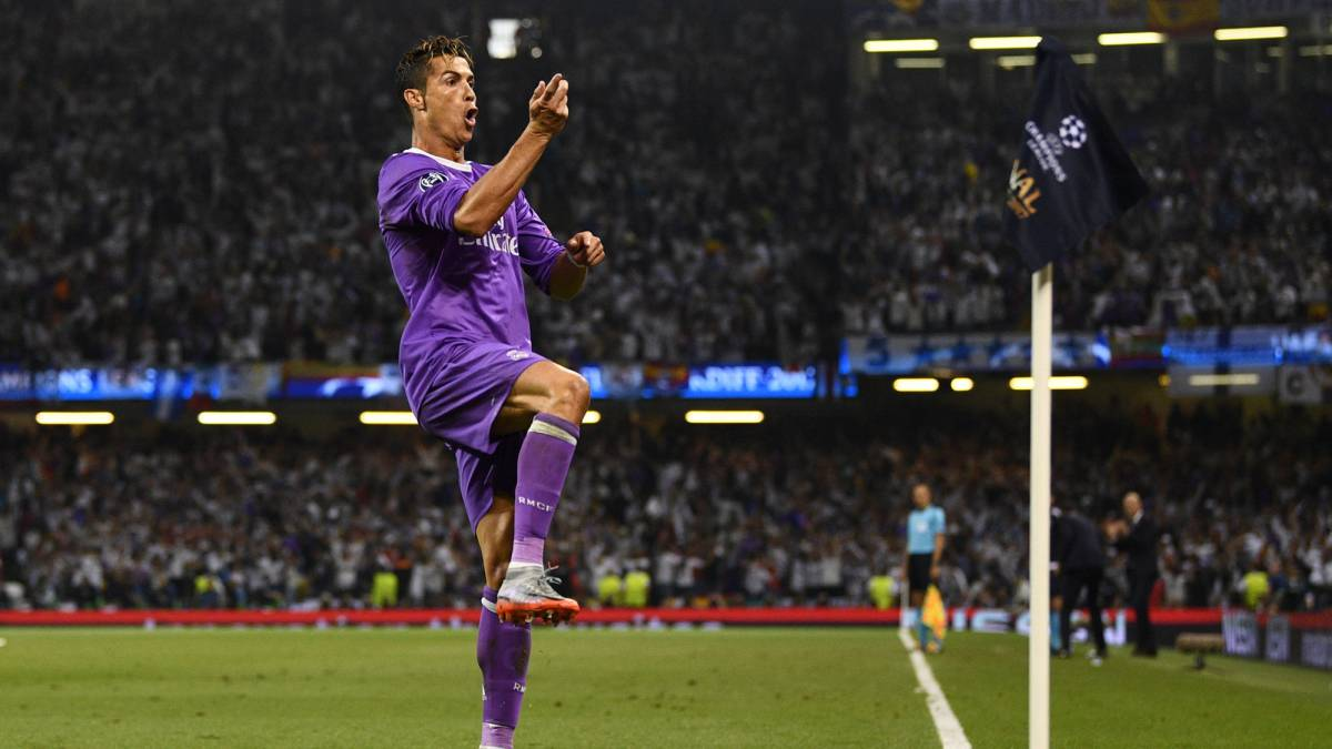 Ronaldo becomes only player to score in three Champions ...