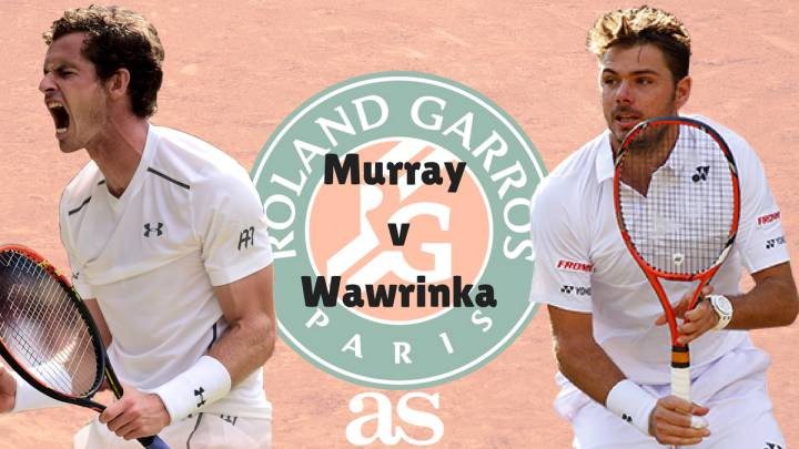 Follow Andy Murray vs Stan Wawrinka live online, semi-final of the 2017 French Open tennis, today 9 June at 12:45 (CET) with AS English from Roland Garros