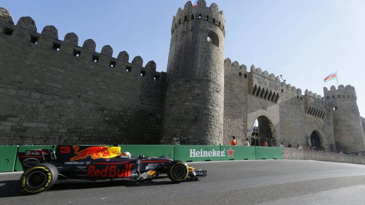 Red Bull\'s Ricciardo wins thrilling Azerbaijan Grand Prix