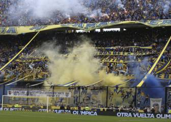 La Bombonera lights up as Boca Juniors celebrate league win