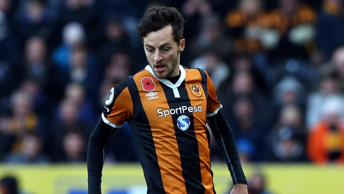 Hull City midfielder Mason forced to retire after skull fracture