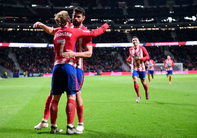 Atletico Madrid's frontline of Antoine Griezmann and Diego Costa will be relishing their Camp Nou chance
