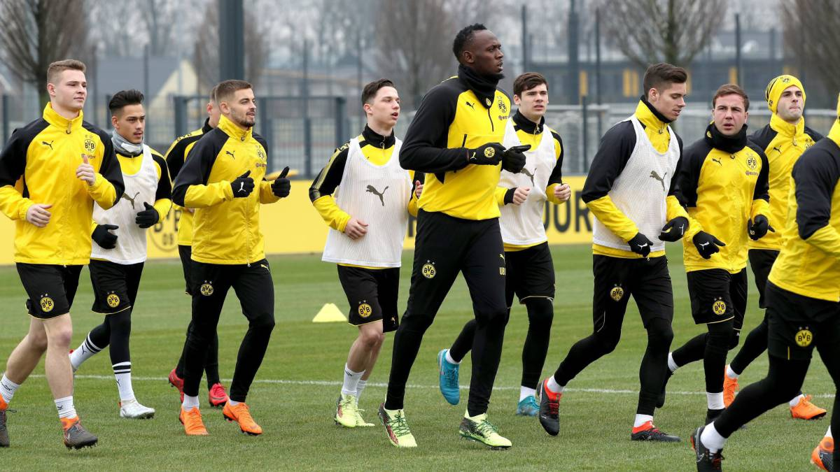 Olympic champion Usain Bolt trains with Germany's Borussia Dortmund, eyes 'serious' play