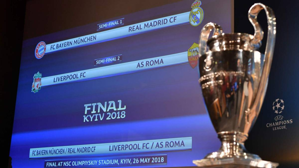 UEFA Champions Europa League Semi Final Draws As They Happened