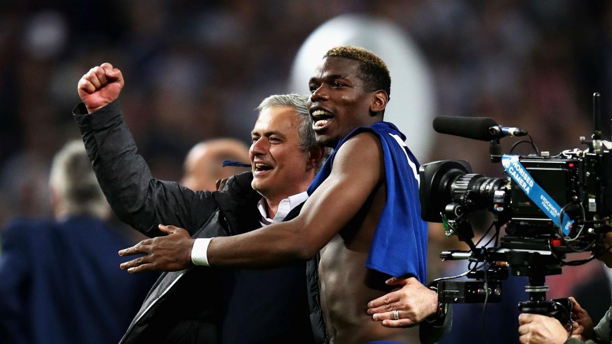 Image result for pogba mourinho happy