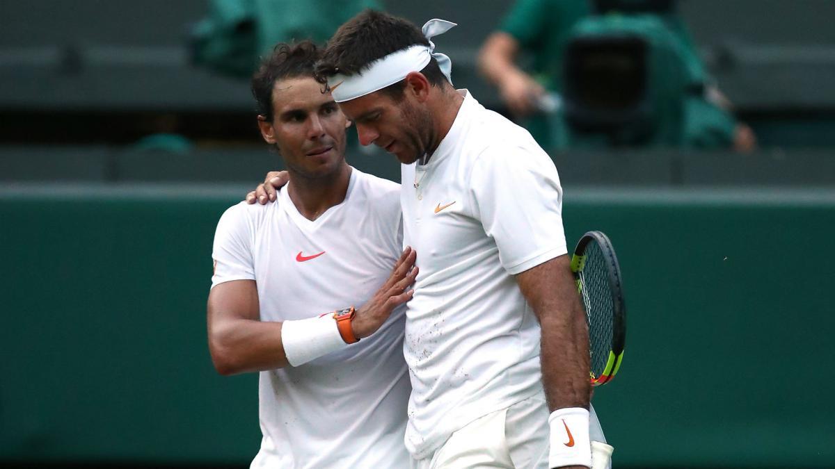 Rafael Nadal edges Juan Martin del Porto in Wimbledon quarterfinals