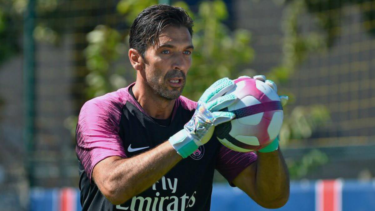 new psg goalkeeper buffon beaten on difficult debut as com