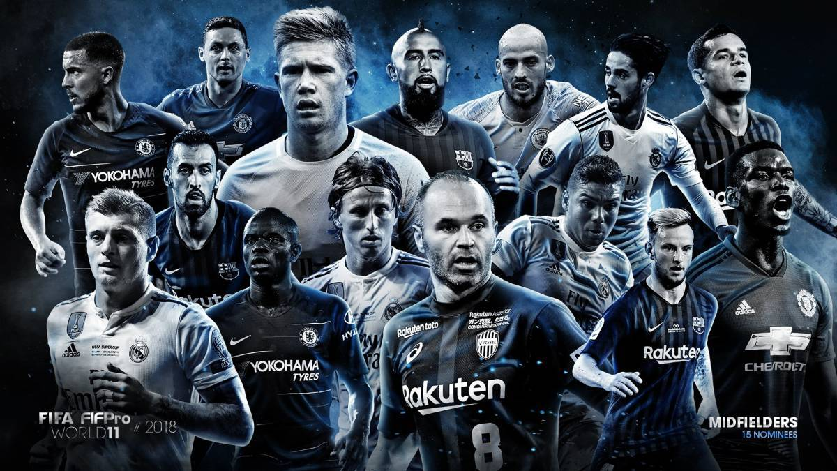 55 nominees for FIFA FIFPro World11 2018 revealed